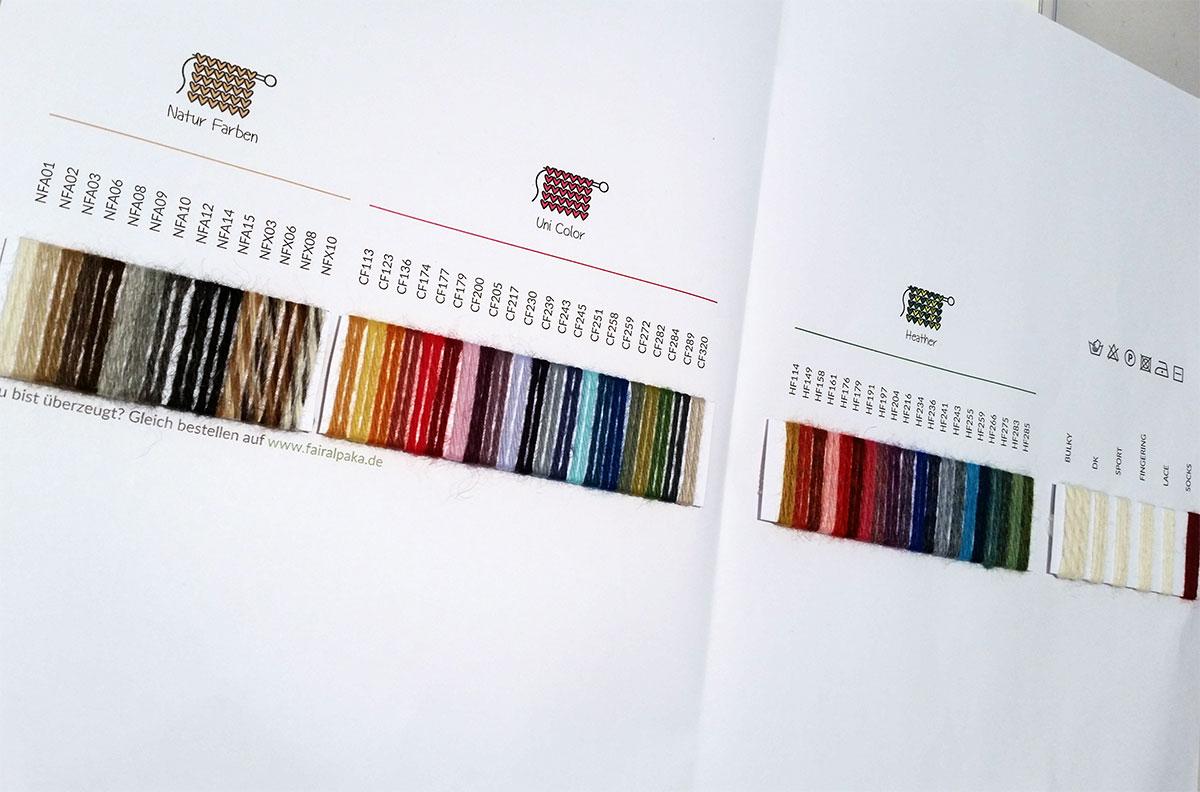 Entwurf Musterkarte