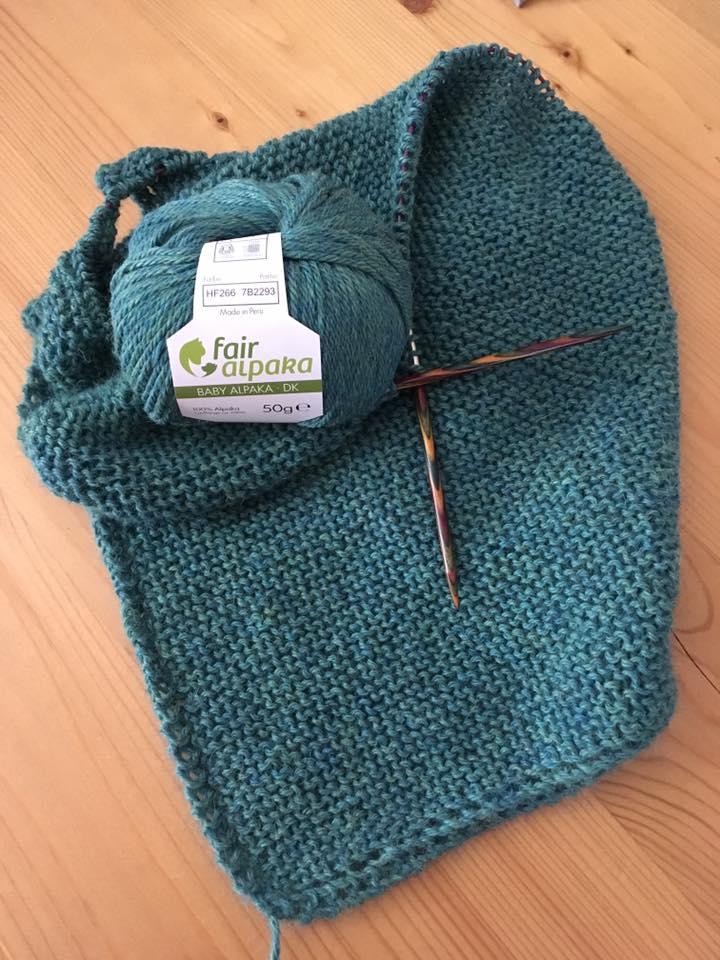 Dreieckstuch aus Baby Alpaka DK Wolle