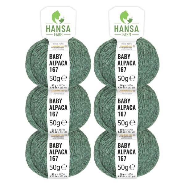 300g Baby Alpakawolle SPORT Smaragd heather (HF275)