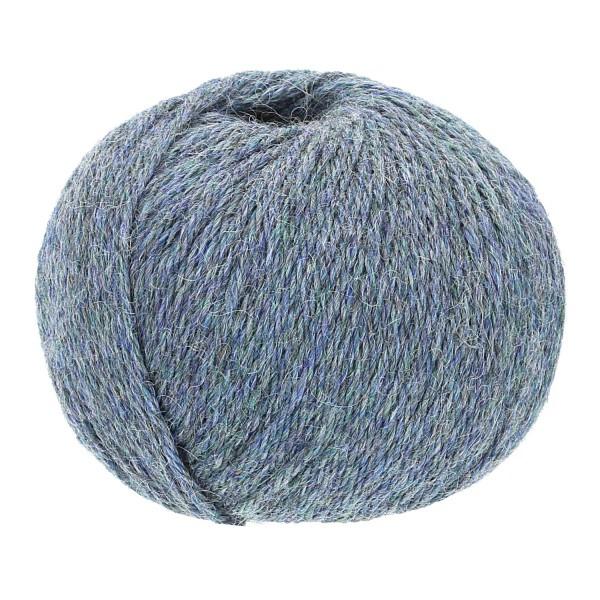 300g Baby Alpakawolle BULKY Grau-Grün heather (HF243)