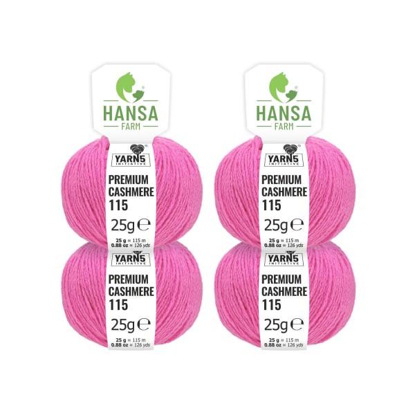 100g Premium Cashmere Wolle 6/28 aus Italien Himbeere (CA190)