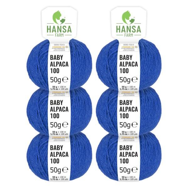 300g Baby Alpakawolle DK Royal-Blau heather (HF234)