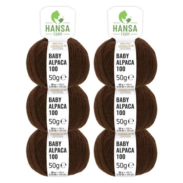 300g Baby Alpakawolle DK Schoko (NFA08)
