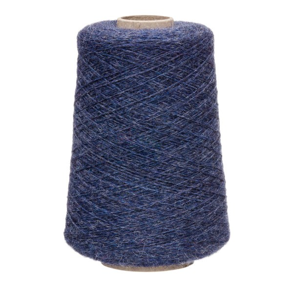 500g Baby Merinowolle Superwash BULKY Kone Dunkelblau heather (HF236)