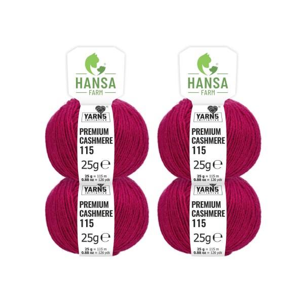 100g Premium Cashmere Wolle 6/28 aus Italien Magenta (CA183)