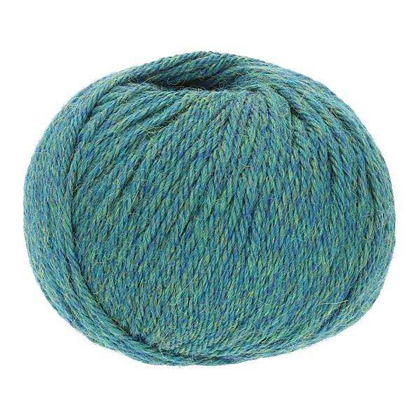 300g Baby Alpakawolle FINGERING Blau-Gruen heather (HF266)