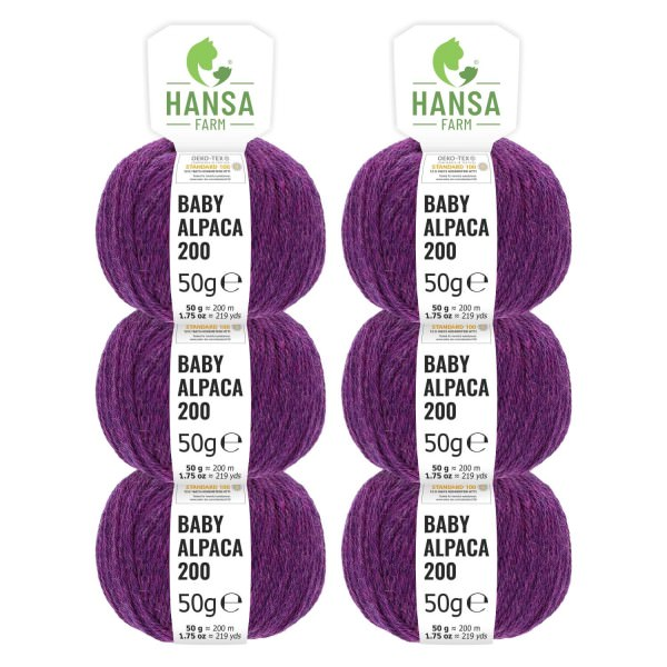300g Baby Alpakawolle FINGERING Lila heather (HF204)