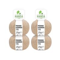 100g Premium Cashmere Wolle 6/28 aus Italien Beige (CA03)