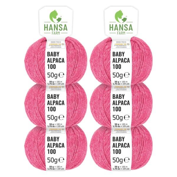 300g Baby Alpakawolle DK Himbeersahne heather (HF191)