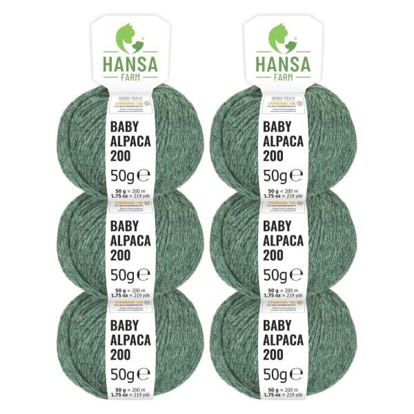 300g Baby Alpakawolle FINGERING Smaragd heather (HF275)
