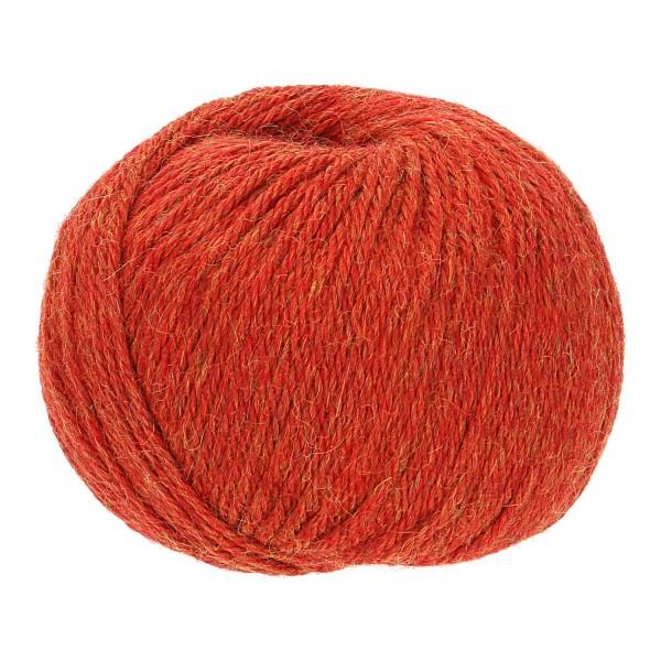 300g Baby Alpakawolle BULKY Orange heather (HF149)