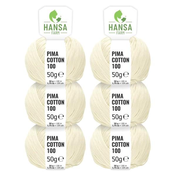 300g Pima Cotton Baumwolle DK (CC00) by fairwool
