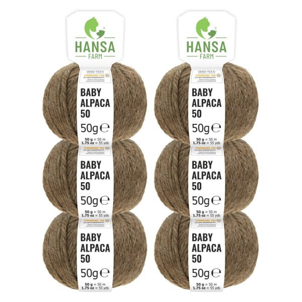 300g Baby Alpakawolle BULKY Braun (NFA06)