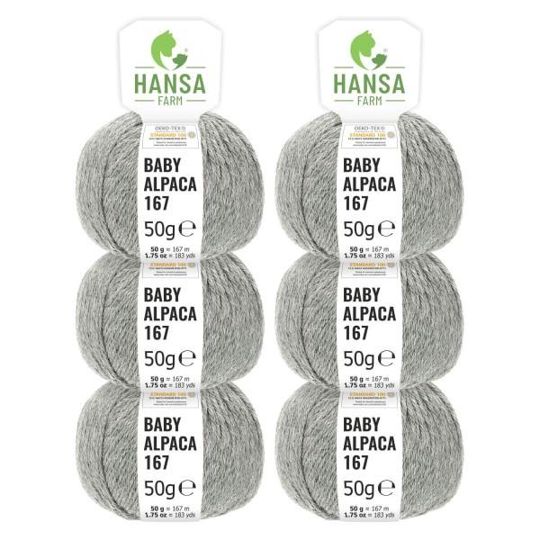 300g Baby Alpakawolle SPORT Hellgrau (NFA10)
