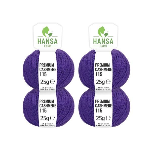 100g Premium Cashmere Wolle 6/28 aus Italien Lavendel (CA203)