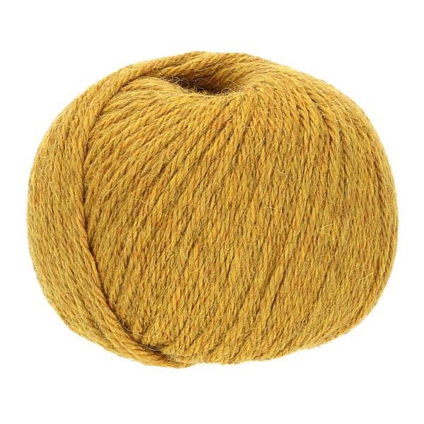 300g Baby Alpakawolle BULKY Senfgelb heather (HF114)