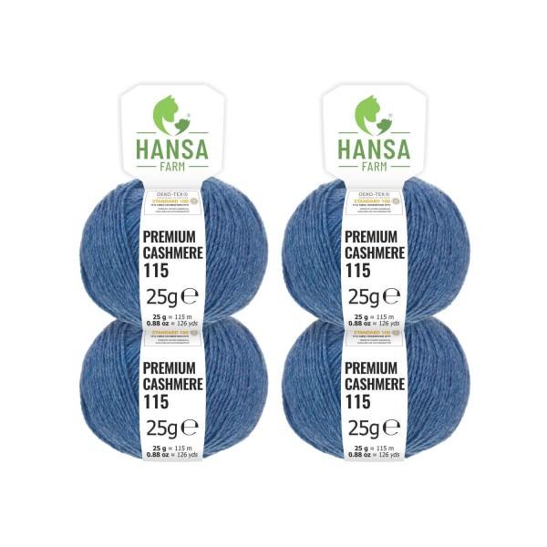 100g Premium Cashmere Wolle 6/28 aus Italien Jeans-Petrol (CA256)