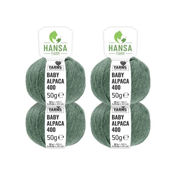 200g Baby Alpakawolle LACE Smaragd heather (HF275)