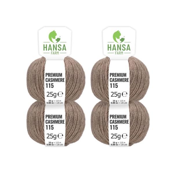 100g Premium Cashmere Wolle 6/28 aus Italien Braun (CA06)