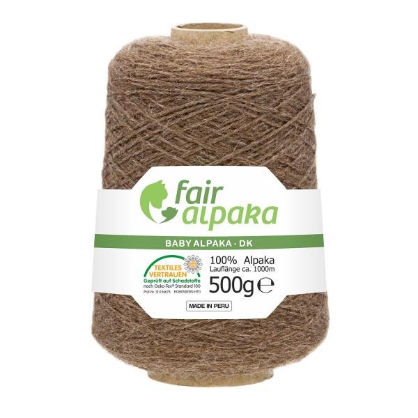 500g Baby Alpakawolle DK Kone Braun (NFA06)