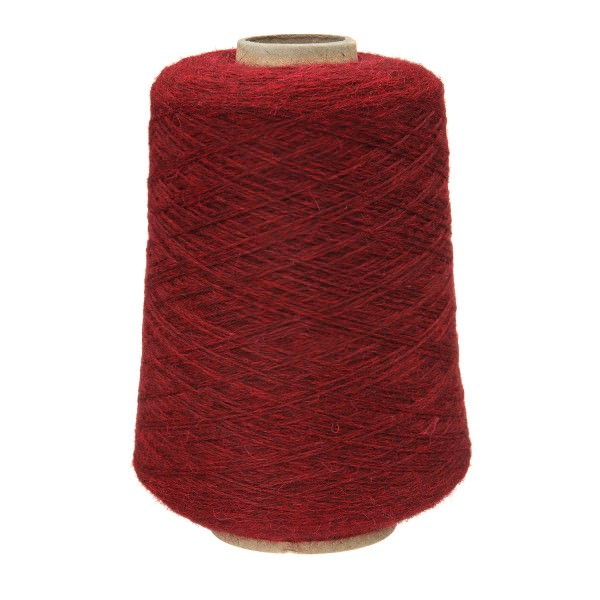 500g Baby Merinowolle Superwash BULKY Kone Weinrot heather (HF179)