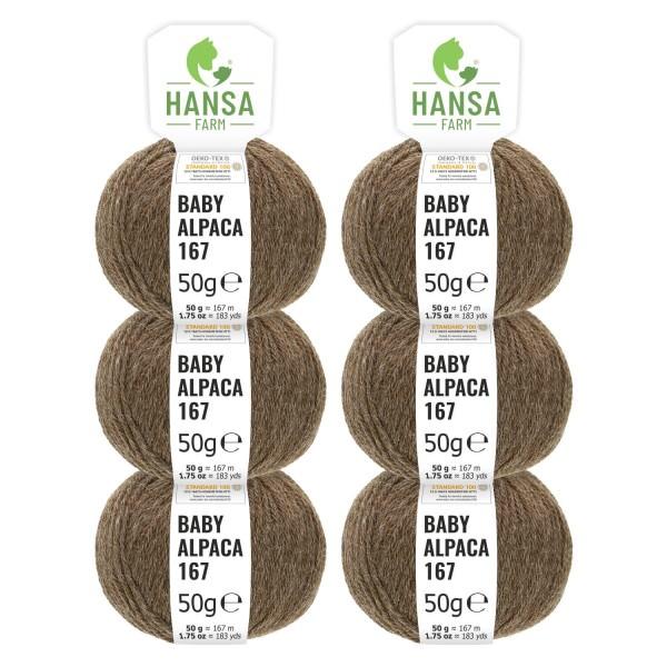 300g Baby Alpakawolle SPORT Braun (NFA06)