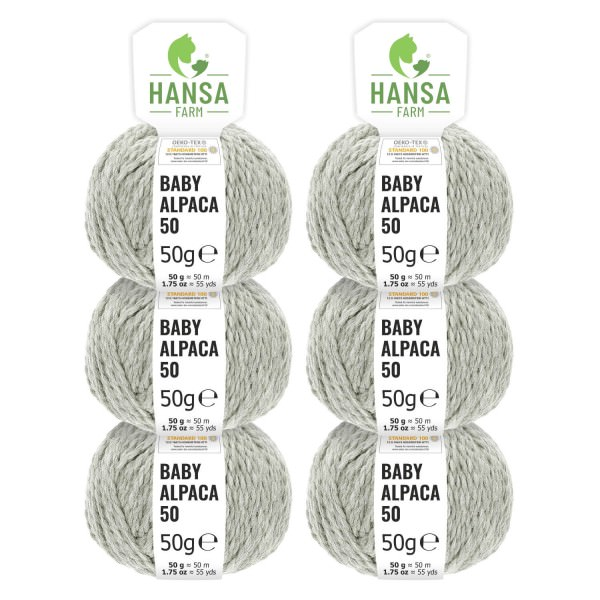 300g Baby Alpakawolle BULKY Silbergrau (NFA09)