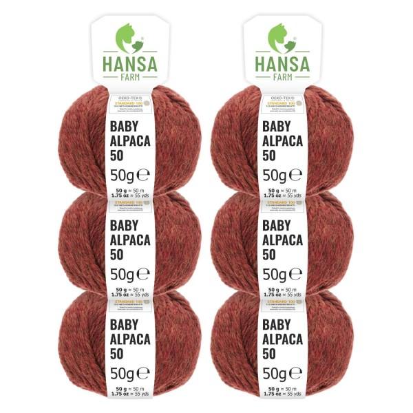 300g Baby Alpakawolle BULKY Herbstlaub heather (HF158)