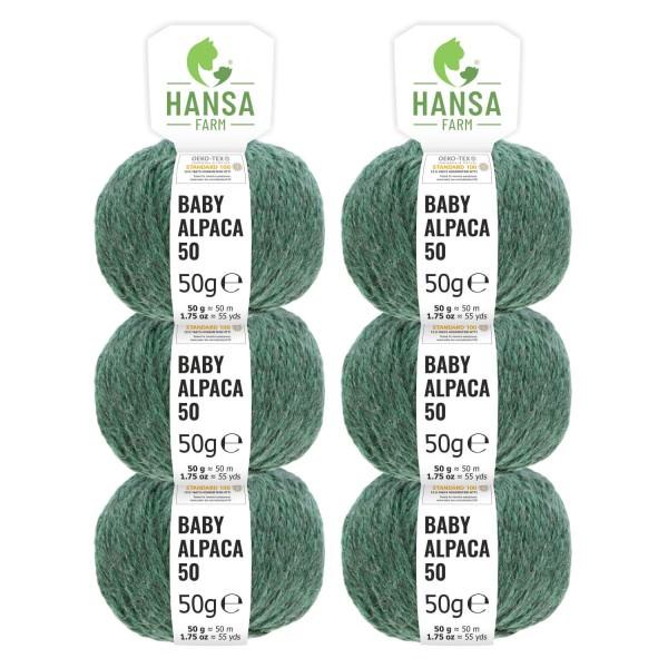 300g Baby Alpakawolle BULKY Smaragd heather (HF275)