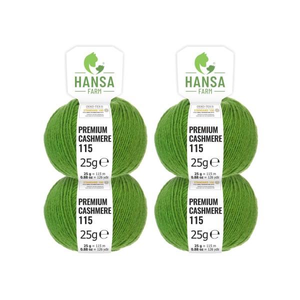 100g Premium Cashmere Wolle 6/28 aus Italien Grün (CA284)