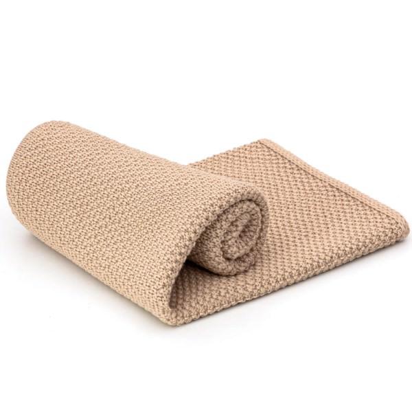 alpacare® Baby Decke 100% Baby Alpakawolle Beige uni (NFA02)