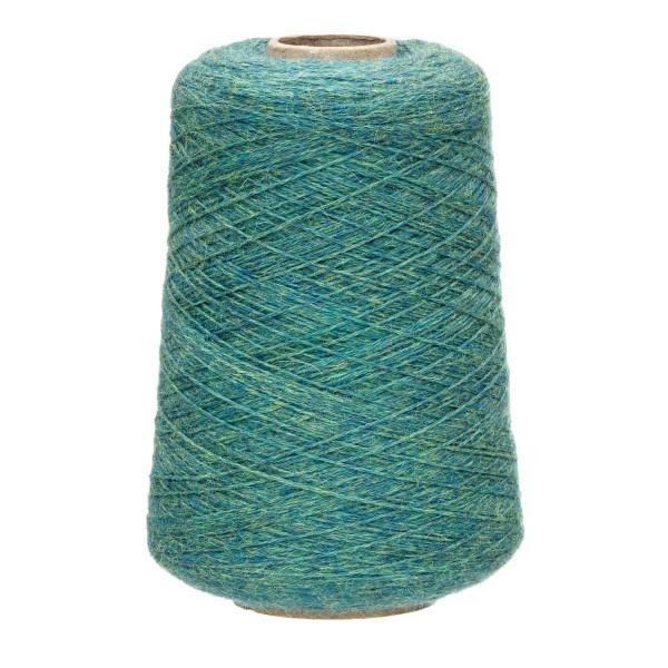 500g Baby Alpakawolle DK Kone Blau-Grün heather (HF266)
