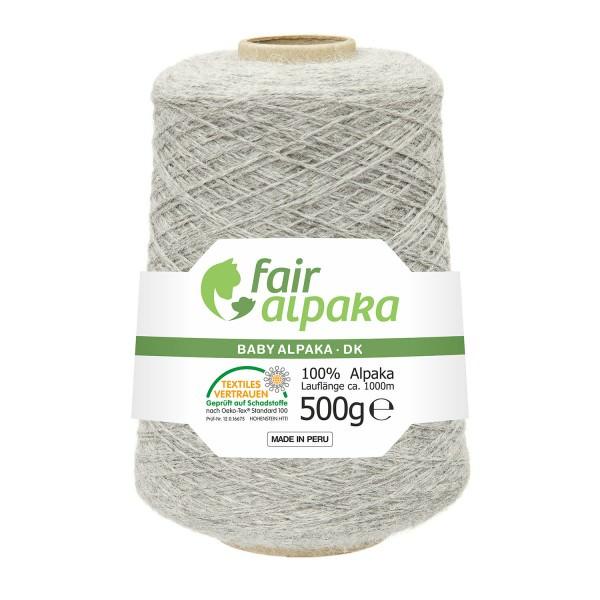 500g Baby Alpakawolle DK Kone Silbergrau (NFA09)