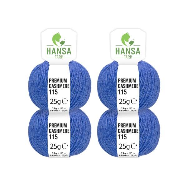 100g Premium Cashmere Wolle 6/28 aus Italien Jeansblau (CA256)
