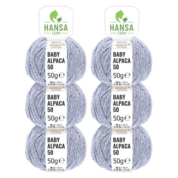 300g Baby Alpakawolle BULKY Gletscher heather (HF241)
