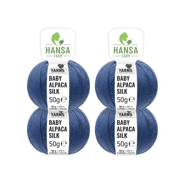 200g Baby Alpakawolle SILK Jeansblau (CF245)