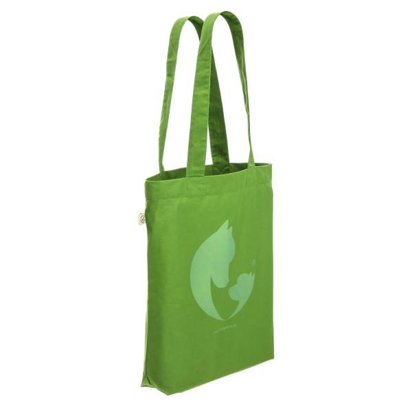 100% Baumwolle (Bio) fair trade Tasche grün