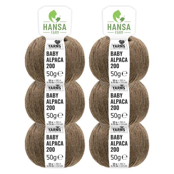 300g Baby Alpakawolle FINGERING Braun (NFA06)